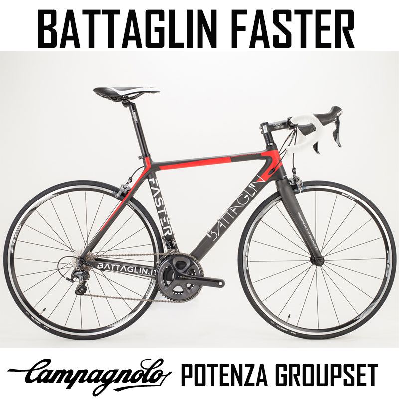 Battaglin Faster - Carbon bike with Potenza 22 speed Compact