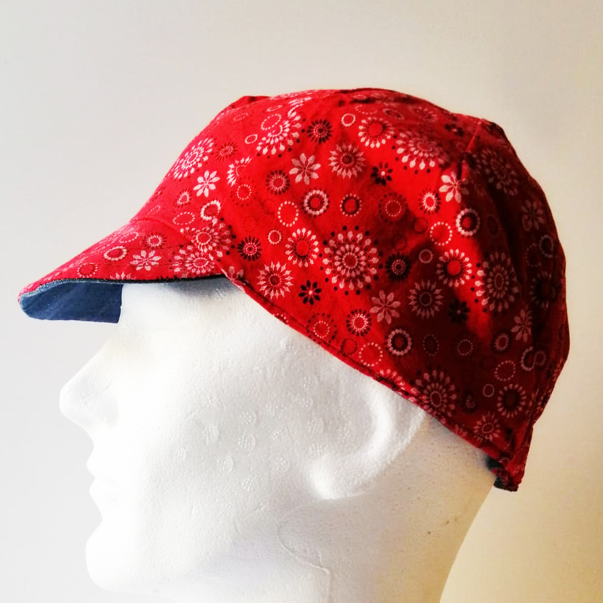 Red Ice Reversible Cycling Cap
