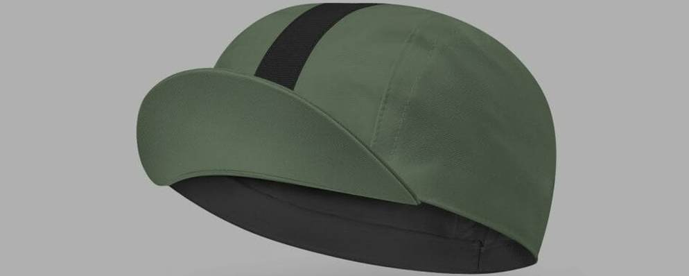 Classic Cycling Cap - Khaki with Black Stripe