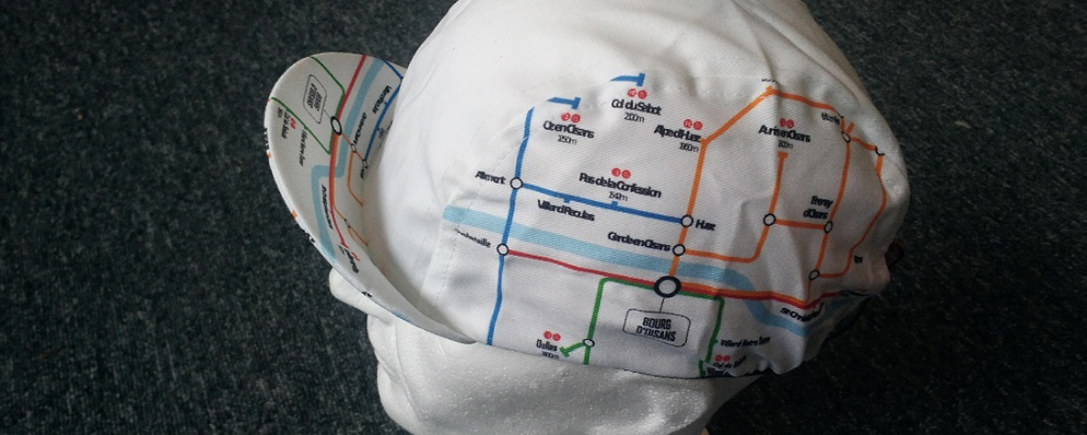 Climbs of the Oisans Tube Map Cycling Cap