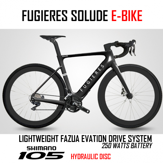 Fugieres Solude - Carbon E bike with 105 groupset and Fazua Evation e-motor